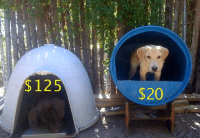 diy-dog-house-from-plastic-barrel