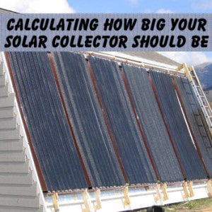 Sizing your solar collector