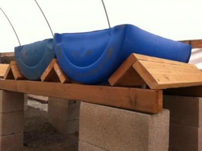 barrel supports with barrel halves