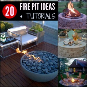 20 fire pit ideas collage