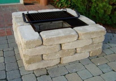fire pit square with grill