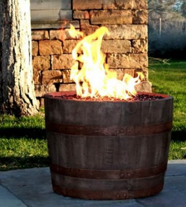 fire pit wine barrel