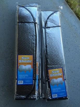 garage door insulation sun shades
