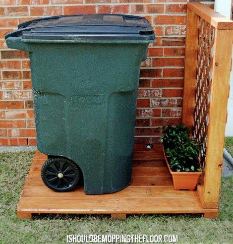 15 Best Looking Ways To Hide Trash Cans Diy Alternative