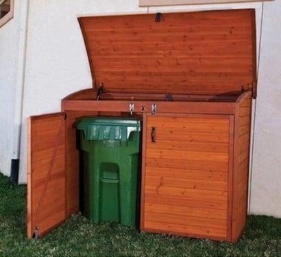 15 best looking ways to hide trash cans diy alternative energy. Black Bedroom Furniture Sets. Home Design Ideas