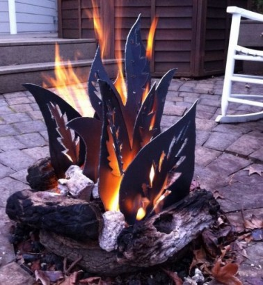 fire pit metal flames