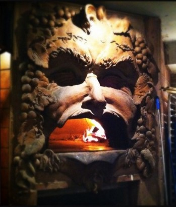 pizza oven bacchus head
